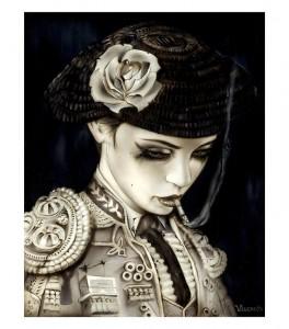 http://thinkspacegallery.com/2010/10/show/EL-TORERO-(-Bull-Fight-Her-II-)-Hand-embellished-custom-framed-Giclee-2010.jpg