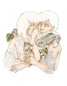 http://thinkspacegallery.com/2009/08/show/Fumi-Shapeshifter-5-11x14-color-pencil-on-paper-(framed).jpg