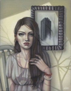 http://thinkspacegallery.com/2009/12/aquaart/show/Sarah-Joncas---Rapunzels-Tower---Oil-on-canvas---14x18---$1100.jpg