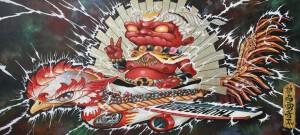 http://thinkspacegallery.com/2010/02/space/show/Yosuke-Ueno---The-God-Of-Thunderbolt---31.5-x-71.5---acrylic-&-gold-leaf.jpg