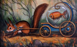 http://thinkspacegallery.com/2014/10/show/kellyvivanco_goldfish_coach-1000.jpg